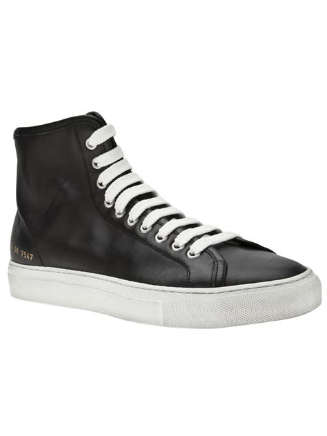 Project High Black lyst common projects tournament high top sneaker in black