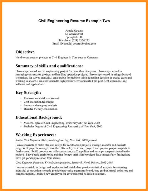 Marine Engineer Sle Resume by Resume Objective Exles Environmental Engineering 28 Images Merchant Marine Engineer Sle