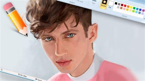 dibujos realistas youtube dibujo realista en paint troye sivan happip youtube