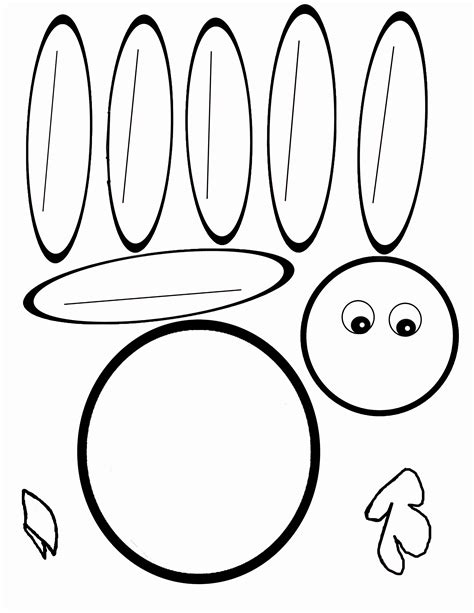 turkey coloring page cut out turkey templates printable here is the pdf for the blank