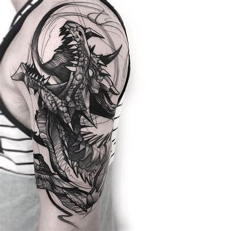 blackwork tattoo designs sketch black work sleeve by frankcarrilho