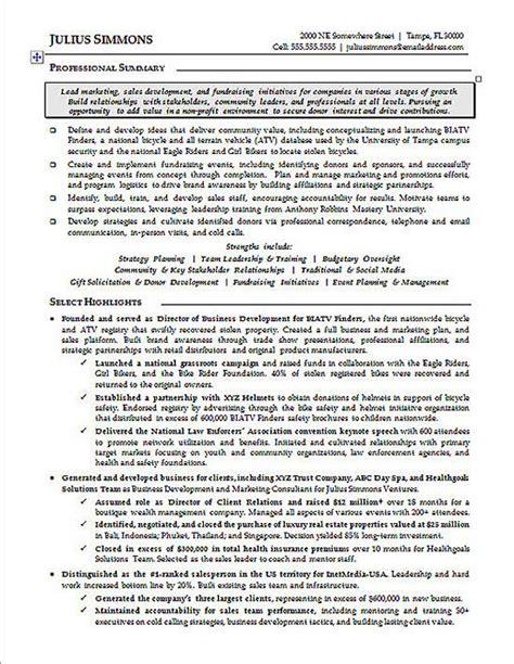 marketing executive resume exle