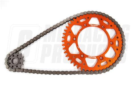 Ktm Chain And Sprockets Ktm Sxf 450 04 On Rk 520 Chain Supersprox Aluminium