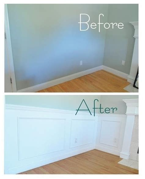 Cheap Wainscoting Ideas Diy Wall Panels Living Room Fireplace Ideas