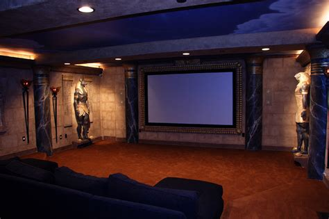 interior basement theater room