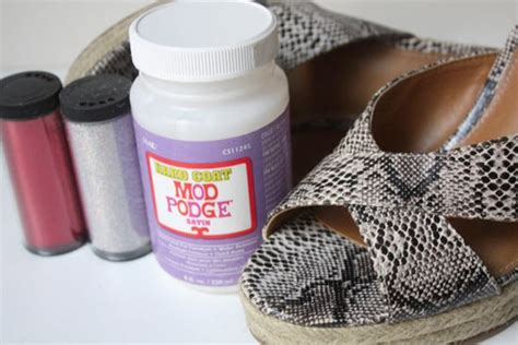 diy mod podge shoes diy mod podge glitter shoes factory direct craft