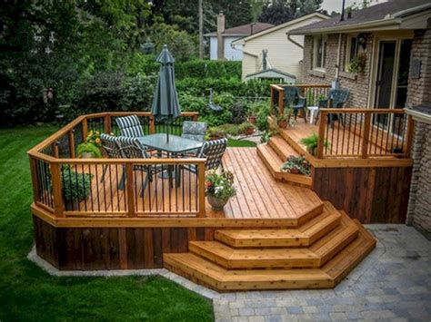 Outside Deck Ideas by Cool Backyard Deck Design Idea 19 Backyard Deck Designs
