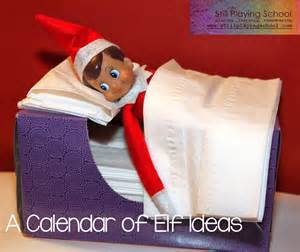 Month of elf on the shelf ideas still playing school