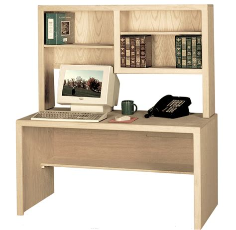 Modern Computer Desk With Hutch Contemporary Computer Desk Shown With Optional Hutch