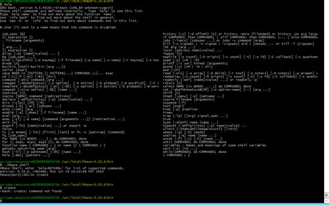 hadoop hbase create command produces no response in