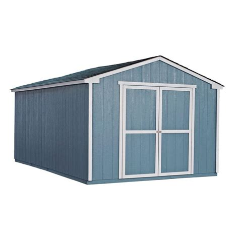 10 X 16 Wood Shed Kit With Floor - handy home products cumberland 10 ft x 16 ft wood shed