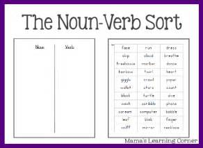 free parts of speech worksheets the noun verb sort free