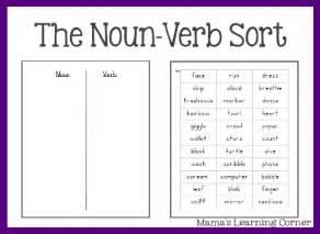 free printable noun worksheets free parts of speech worksheets the noun verb sort free