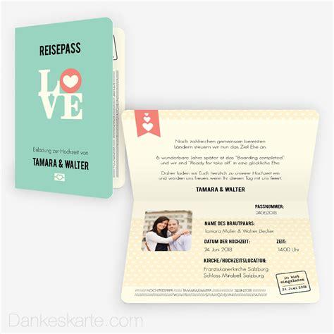 Hochzeitseinladung Reisepass by Einladung Reisepass 15 X 10 Cm Vertikalklappkarte