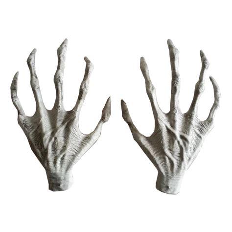 diy creepy halloween hand picture frame halloween plastic skeleton hands witch hands haunted house