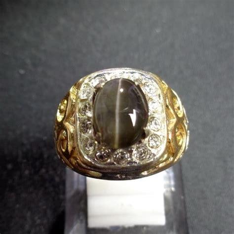 Gelang Batu Mata Kucing Original cincin mustika mata kucing hitam semar mesem asli