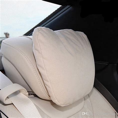 soft car headrest pillow microfiber relief driving