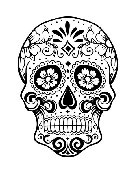 day of the dead skull coloring pages day of the dead sugar skull coloring pages coloring pages