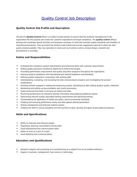 Quality Description Resume best photos of template description for controller