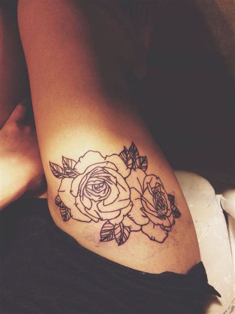 rose tattoo upper thigh 109 best hd thigh tattoos for images on