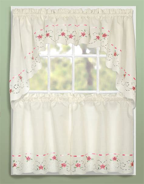 Kitchen Curtains Swags Rachael Tier Swag Curtains United Curtains Jabot Swag Kitchen Curtains