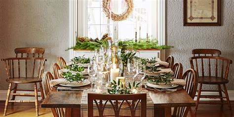 christmas garland on buffett pics 40 diy table decorations and settings centerpieces ideas for your table