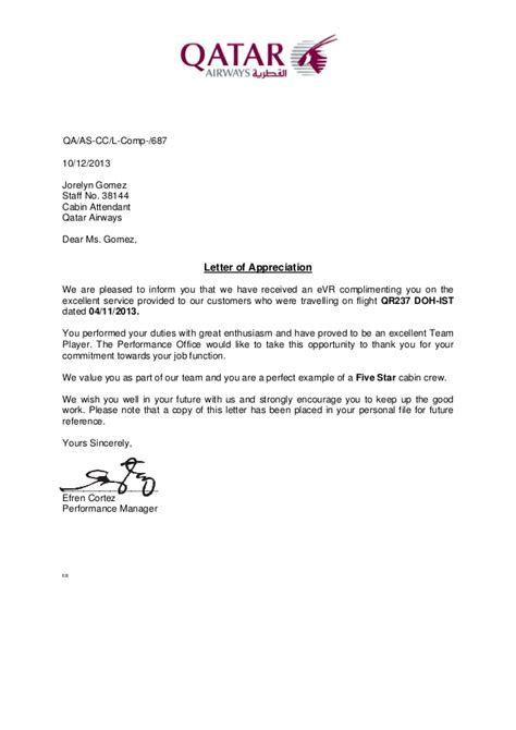 Service Letter For Flying Letter Of Appreciation 2013nov04