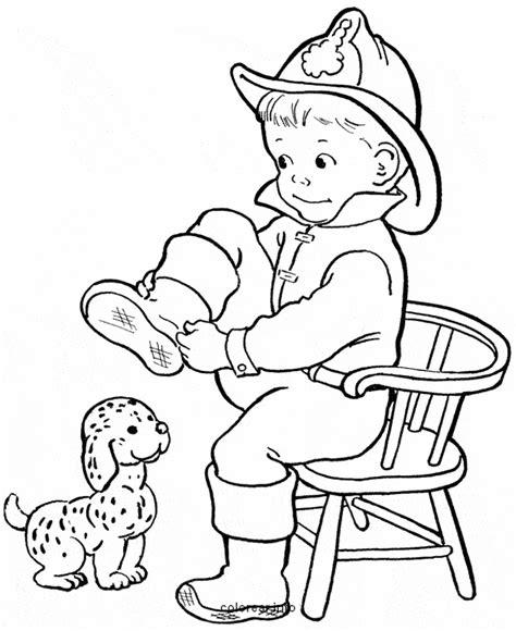 imagenes para colorear bombero dibujos disfraz bombero