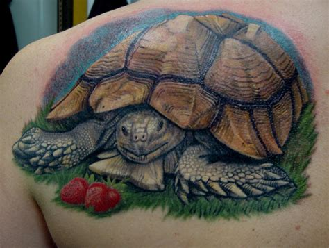 black tortoise tattoo happy tortoise by larry brogan tattoonow