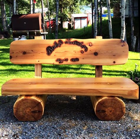 how to make a log bench did you know that pioneer log homes also makes custom log