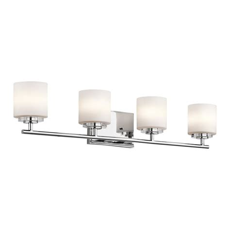 transitional bathroom lighting shop kichler lighting 4 light o hara chrome transitional
