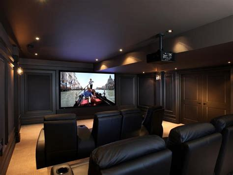 Contemporary Home Theater Design From Cedia Best Home Theater Design