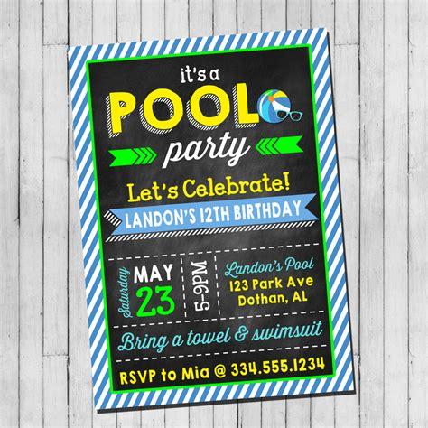 Backyard Birthday Party Ideas pool party anniversaire invitation gar 231 on adolescent pool