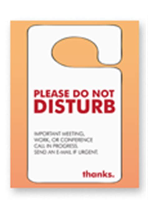 Office Signs Xerox Do Not Disturb Sign Template