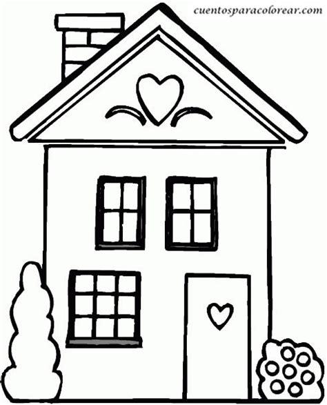 imagenes faciles para dibujar de casas dibujos para colorear casas
