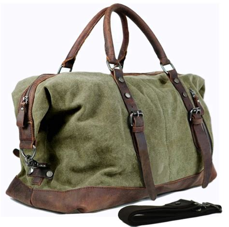 6 In 1 Travelling Bag In Bag Tas Dalam Koper vintage canvas leather travel bags carry on luggage bags duffel bags travel