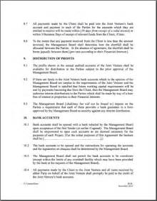construction joint venture agreement template joint venture agreement format