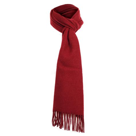 dents accessories burgundy lambswool scarf