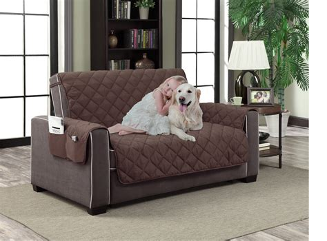 slipcover microfiber reversible pet dog couch protector cover pockets love seat ebay