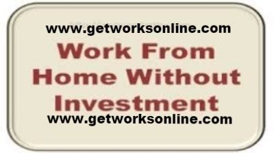 Online Works From Home Without Investment - earn money home data entry without investment www