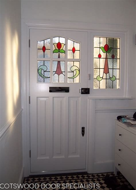 edwardian  light front door  stained glass