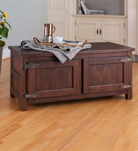 plow and hearth coffee table portland box coffee table bench accent tables