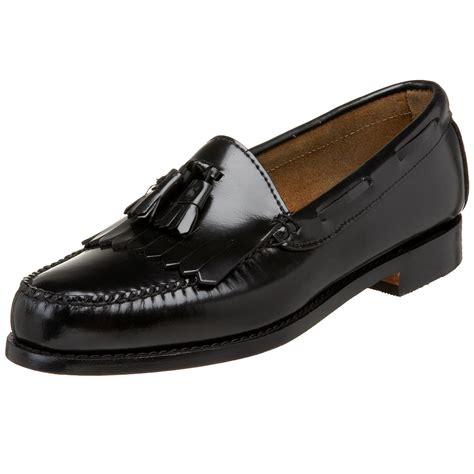 bass shoes loafers g h bass co mens layton kiltie tassel loafer in black