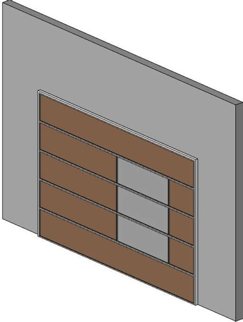 Garage Door Revit Revitcity Object Contemporary Flat Panel Garage Door