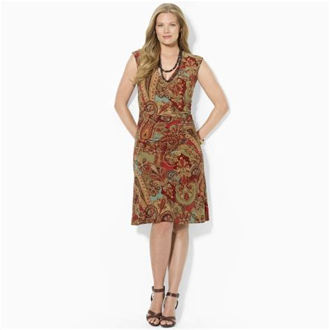 pattern jersey wrap dress lauren by ralph lauren paisley jersey faux wrap dress in