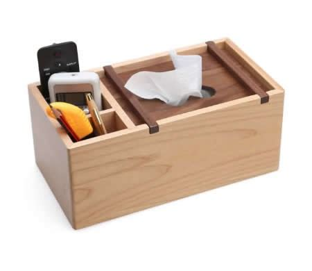 Desktop Tissue Box wooden multi function tissue box cover desktop remote