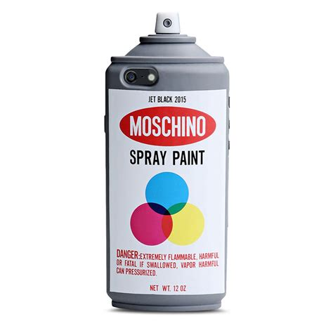 Moschino Spray Paint moschino spray paint bottle iphone 7 7 plus grey