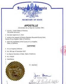 california apostille cover letter application letter sle apostille cover letter sle