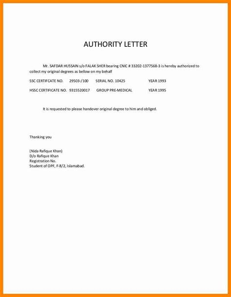 authorization letter house 5 authorization letter for document collection catering