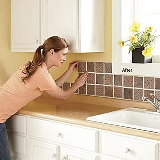 stick on backsplash frugal kitchen ideas